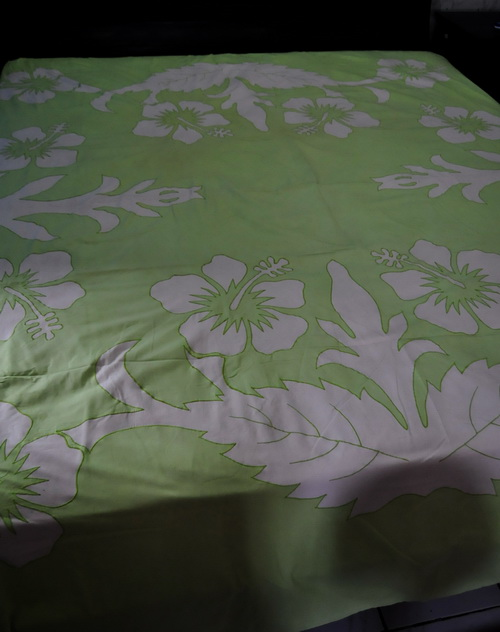 lime hibiscus quilts